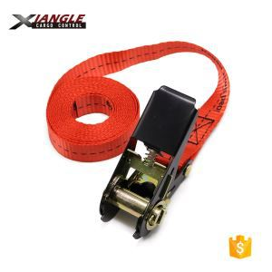 Black E-coating Logo Ratchet Tie Down Strap