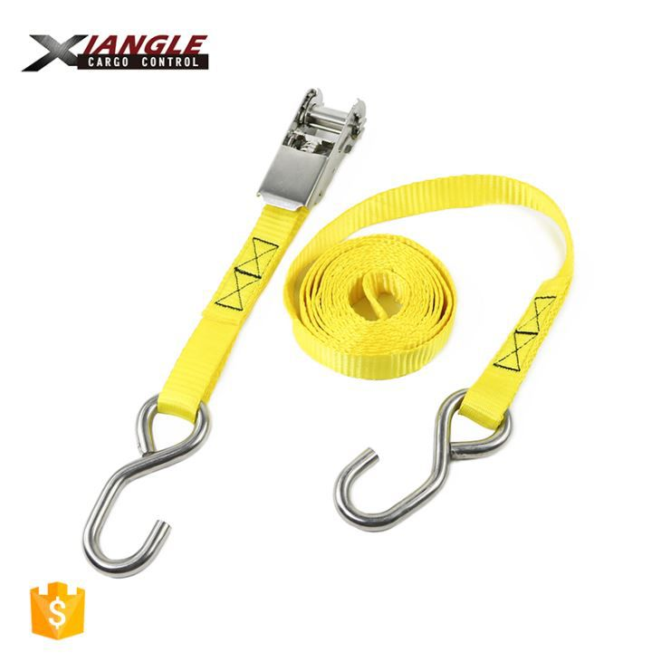 Boat Tie Down Strap With Safety Hook